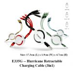 E335G -- Hurricane Retractable Charging Cable (3in1)