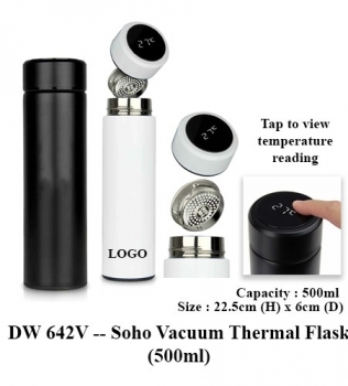 DW 642V — Soho Vacuum Thermal Flask (500ml)