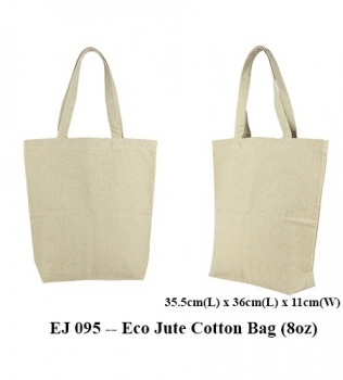 EJ 095 — Eco Jute Cotton Bag (8oz)