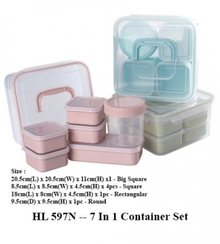HL 597N — 7 In 1 Container Set
