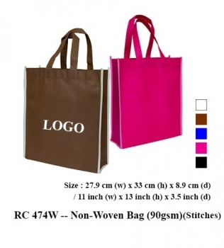 RC 474W — Non-Woven Bag (90gsm)(Stitches)