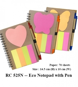RC 525N — Eco Notepad with Pen