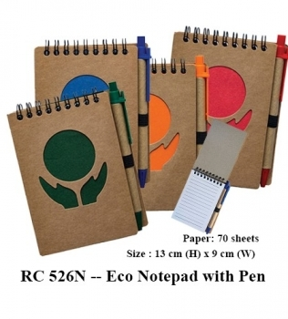 RC 526N — Eco Notepad with Pen