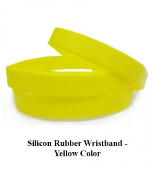 Silicon Rubber Wristband – Yellow Color